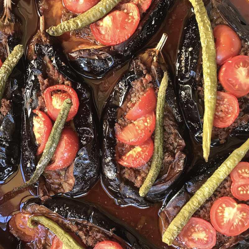 Turkish Stuffed Eggplants – Karni Yarik